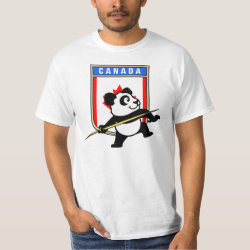 Men's Crew Value T-Shirt with Canadian Javelin Panda design