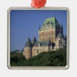 Canadá, la ciudad de Quebec.  Castillo francés Ornamentos Para Reyes Magos
