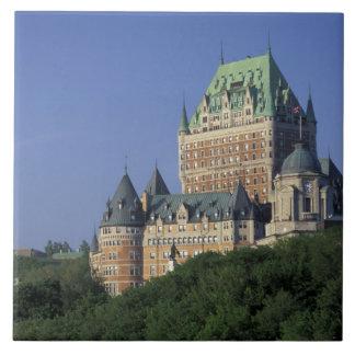 Canadá, la ciudad de Quebec.  Castillo francés Fro Azulejo Cuadrado Grande