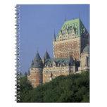 Canadá, la ciudad de Quebec.  Castillo francés Fro Libro De Apuntes Con Espiral