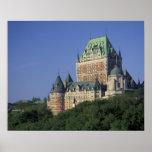 Canadá, la ciudad de Quebec.  Castillo francés Fro Impresiones