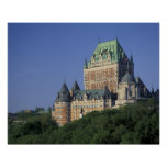 Canadá, la ciudad de Quebec.  Castillo francés Fro Póster