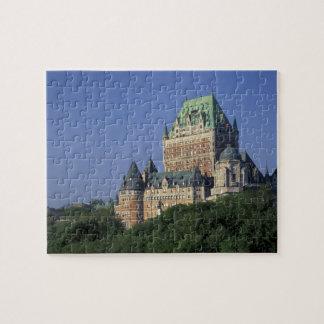 Canadá, la ciudad de Quebec.  Castillo francés Fro Rompecabeza Con Fotos