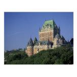 Canadá, la ciudad de Quebec.  Castillo francés Postal