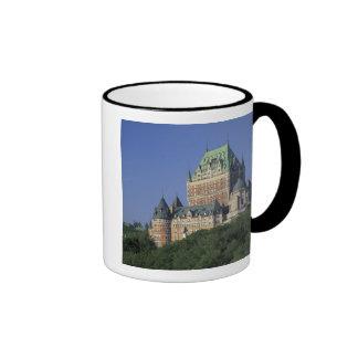 Canadá, la ciudad de Quebec.  Castillo francés Taza De Dos Colores