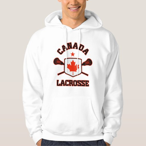 Canada lacrosse hoodie zazzle for Banded bottom shirts canada