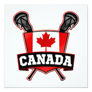 Canada Lacrosse Logo Card