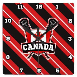 Canada Lacrosse Logo Clock