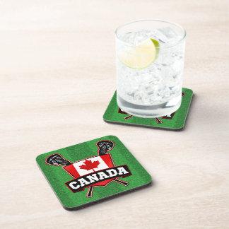Canada Lacrosse Logo Coasters