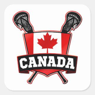Canada Lacrosse Logo Square Sticker