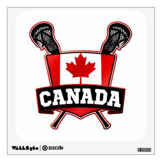 Canada Lacrosse Logo Wall Decal
