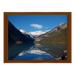 Canada Lake Louise Rocky Mountain Wood Frame Print