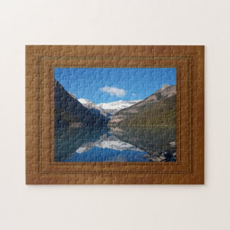 Canada Lake Louise Rocky Mountain Wood Frame Print Puzzle