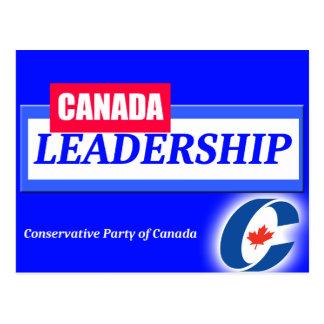 Canada Leadership Conservative Party of Canada Postcard