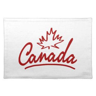 Canada Leaf Script Cloth Placemat