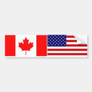 Canadá los E E U U Etiqueta De Parachoque