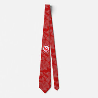 Canada LOVE White Circle Red Background Tie