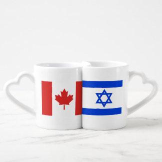 Canada Loves Israel Loves Canada Coffee Mug Set