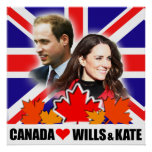 Canada Loves Prince William & Kate Poster
