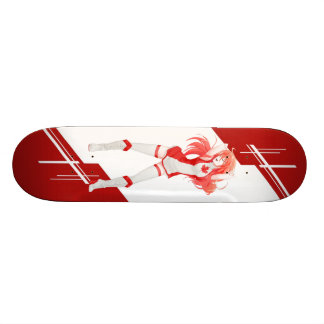 Canada Manga Anime girl dressed in Flag Skateboard Deck