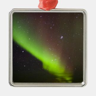 Canada, Manitoba, Churchill. Aurora Borealis Metal Ornament