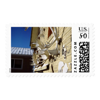 Canada, Manitoba, Churchill. Typical home with Postage