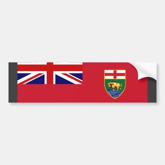 Canada Manitoba Flag Bumper Sticker