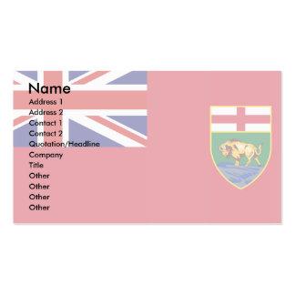 Canada Manitoba Flag Business Card
