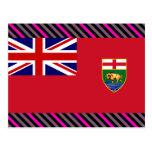 Canada Manitoba Flag Post Card