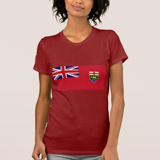 Canada Manitoba Flag T-shirt