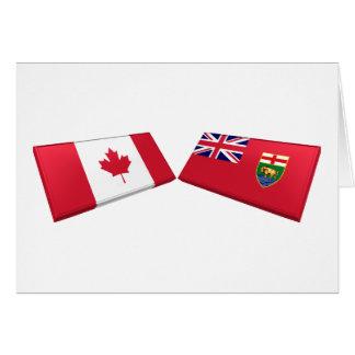 Canada & Manitoba Flag Tiles Card