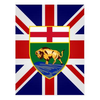 Canada Manitoba High quality Flag Postcard