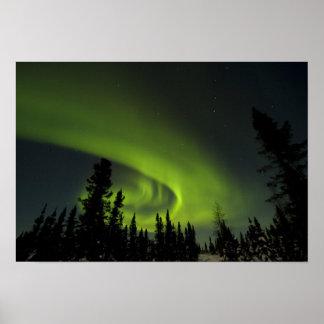 Canada, Manitoba. View of aurora borealis and Poster