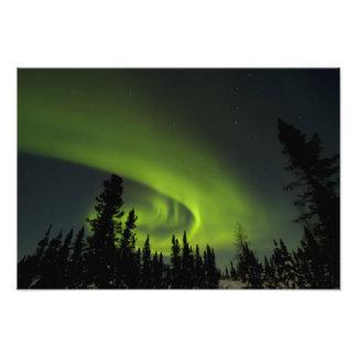 Canadá, Manitoba. Vista de los borealis de la auro Fotografía