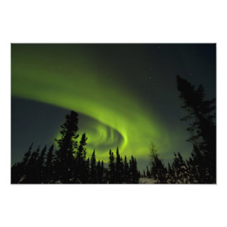 Canadá, Manitoba. Vista de los borealis de la auro Fotografías