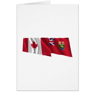 Canada & Manitoba Waving Flags Card