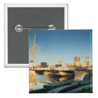 CANADA, Manitoba, Winnipeg: Esplanade Riel 2 Inch Square Button