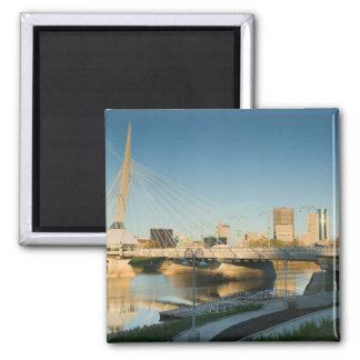 CANADA, Manitoba, Winnipeg: Esplanade Riel 2 Inch Square Magnet