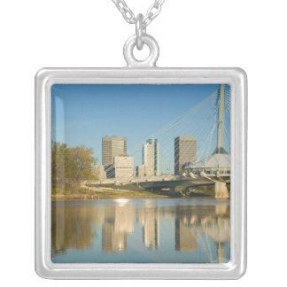 CANADA, Manitoba, Winnipeg: Esplanade Riel 2 Square Pendant Necklace