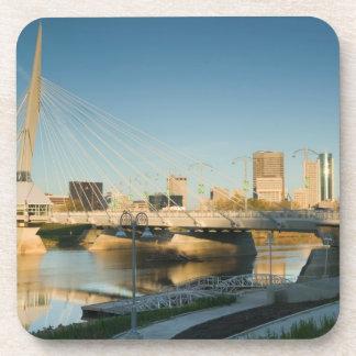 CANADA, Manitoba, Winnipeg: Esplanade Riel Beverage Coaster