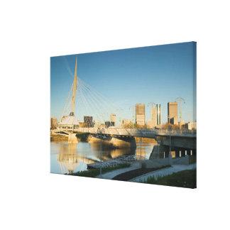 CANADA, Manitoba, Winnipeg: Esplanade Riel Canvas Print