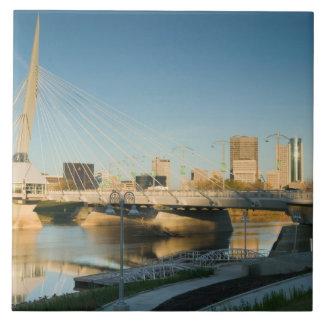 CANADA, Manitoba, Winnipeg: Esplanade Riel Large Square Tile