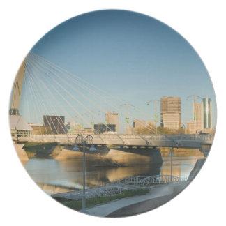CANADA, Manitoba, Winnipeg: Esplanade Riel Melamine Plate
