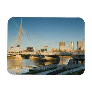 CANADA, Manitoba, Winnipeg: Esplanade Riel Rectangular Photo Magnet