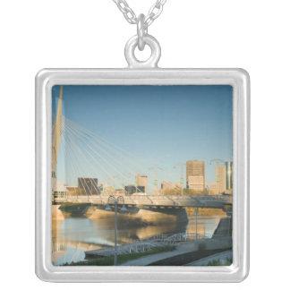 CANADA, Manitoba, Winnipeg: Esplanade Riel Square Pendant Necklace