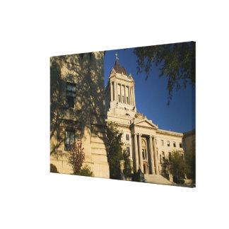 Canadá, Manitoba, Winnipeg: Manitoba legislativa Lienzo Envuelto Para Galerias