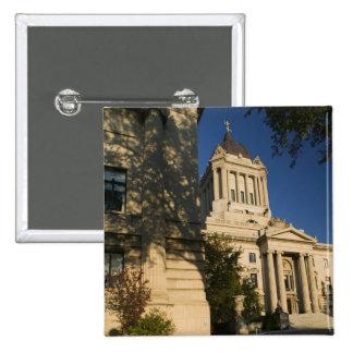 Canadá, Manitoba, Winnipeg: Manitoba legislativa Pin Cuadrada 5 Cm