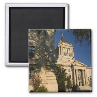 Canada, Manitoba, Winnipeg: Manitoba Legislative 2 Inch Square Magnet