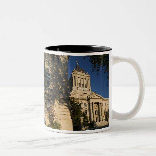Canada, Manitoba, Winnipeg: Manitoba Legislative Two-Tone Coffee Mug