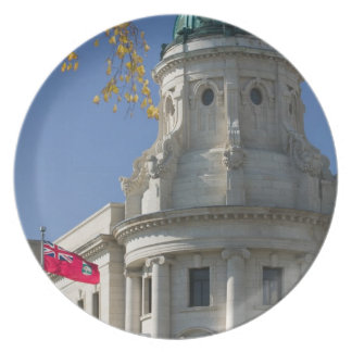 CANADA, Manitoba, Winnipeg: The Law Courts, Dinner Plates